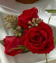 The Red Spray Rose Boutonniere