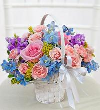 Pastel Flower Girl Arrangement