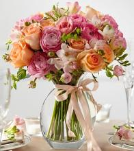 The Peach Silk™ Fresh Arrangement