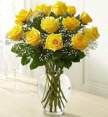 "Rose Eleganceâ""¢ Premium Long Stem Yellow Roses"