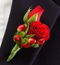 All Red Ring Bearer Boutonnière
