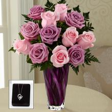 The Royal Treatment Rose Bouquet with Heart Pendant