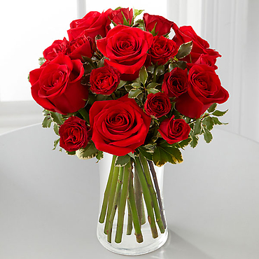 "The Red Romanceâ""¢ Rose Bouquet"